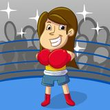 Female boxing sport Royalty Free Stock Image