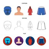 Boxing, sport, mask, helmet.Boxing set collection icons in cartoon,outline,flat style vector symbol stock illustration Stock Photography