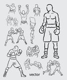 Boxing Sport Sketch Stock Photography