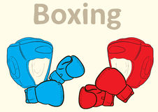 Boxing sports attributes Royalty Free Stock Photos