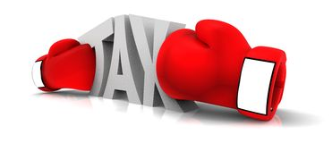 Boxing the tax Stock Photo