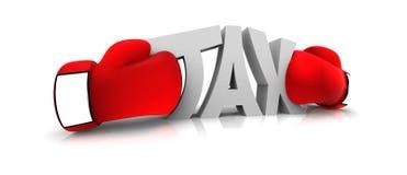 Boxing the tax Stock Photos