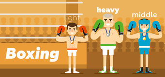 Boxing team awarding at ringside Royalty Free Stock Photography