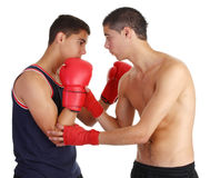 Boxing training Stock Photo