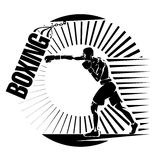 Boxing. Training with punching bag. Stock Images
