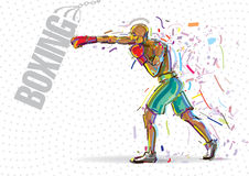 Boxing training. Royalty Free Stock Image