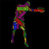 Boxing Typography word cloud colorful Vector illustration. Typography word cloud colorful in Silhouette Stock Photos
