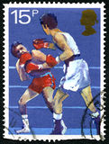 Boxing UK Postage Stamp Stock Images