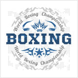 Boxing vintage vector label for poster, flyer or t Stock Photo