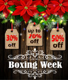 Boxing week tag Royalty Free Stock Photos