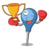 Boxing winner clyster mascot cartoon style. Vector illustration Royalty Free Stock Photo