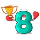 Boxing winner number eight volume logo the mascot. Vector illustration stock illustration