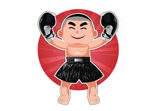 Boxing winner Stock Photography