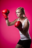Boxing woman Royalty Free Stock Photos
