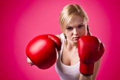 Boxing woman Stock Image