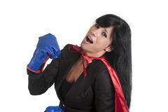 Boxing woman Royalty Free Stock Photo