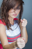 Boxing Woman Royalty Free Stock Photo