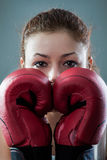 Boxing Woman Stock Photo