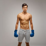 Boxing. Young Boxer ready to fight Stock Photo