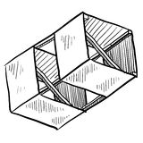 Boxkite sketch Stock Images