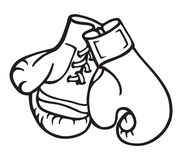 Boxng Handschuh-Abbildung stock abbildung