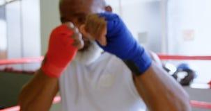 Boxning för hög man i konditionstudion 4k arkivfilmer