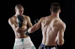 Boxning för två man Arkivbilder