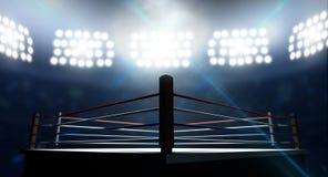 Boxning Ring In Arena Arkivbild