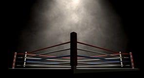 Boxning Ring Spotlit Dark Royaltyfria Foton
