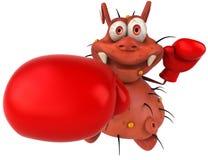 boxningbakterie stock illustrationer