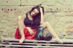 Boxningflicka Royaltyfria Bilder