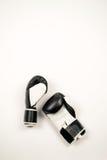 Boxninghandskar på vit bakgrund Arkivfoton
