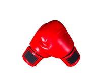 Boxninghandskar på vit bakgrund royaltyfria bilder
