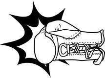 boxninghandske vektor illustrationer