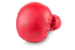 Boxninghandske som isoleras på vit bakgrund Arkivfoton