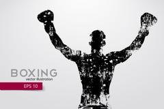 Boxningkontur boxas också vektor för coreldrawillustration stock illustrationer