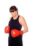boxningkvinna royaltyfria foton