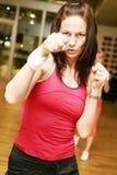 Boxningkvinna royaltyfria bilder