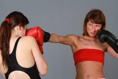 boxningkvinnor Arkivfoton