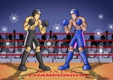 boxningmästerskap stock illustrationer