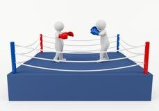 Boxningmatch Royaltyfri Foto