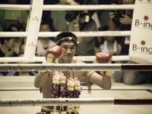 BoxningMuay thailändsk välgörenhet arkivbild