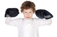 boxningpojkehandskar Royaltyfri Bild