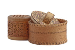 Boxs of birch bark Royalty Free Stock Image