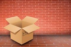 Boxs on brick wall Stock Images
