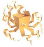 Boxtopus, isolato Immagini Stock