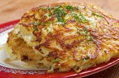 Boxty l爱尔兰土豆薄烤饼 图库摄影