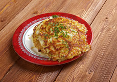 Boxty l Irish potato pancake. Boxty - traditional Irish potato pancake. fried potato dishes is its smooth, fine grained consistency Royalty Free Stock Images