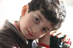 Boy. Portrait of an 8 year boy Royalty Free Stock Photos
