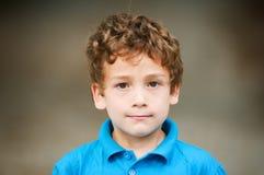 Boy. Closeup portrait of an adorable six year old boy Stock Photo